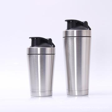 Sport Trinkflasche Double Wall Edelstahl Protein Shaker Flasche