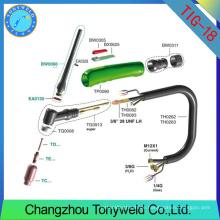 Tig Schweißbrenner wp18 weldcraft argon Fackel Ersatzteile