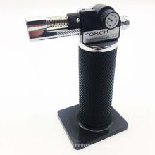 Nova tocha de jato à prova de vento recarregável butano micro tocha isqueiro (es-tl-005)