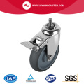 Threaded Stem TPR Swivel Caster With Brake