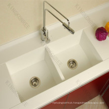 import china quartz composite double bowl large kitchen sinks