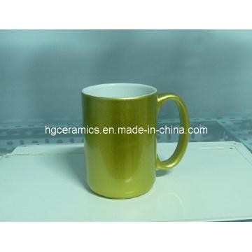 15oz Gold, Silver Sublimation Mugs