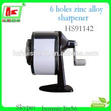 6 hole aluminium alloy metallic pencil sharpener machine