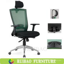 Eco-Friendly Functional Executive Teal cadeira de escritório com apoios para o cabeçalho Ajustável / Ergonomic Office Task Chair com braços em T