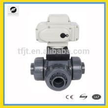 CTB-010 AC220V 3 vías DN40 Válvula de actuador eléctrico del motor UOVC con anulación manual y señal de retroalimentación