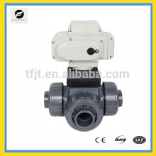 CTB-010 AC220V 3way DN40 UOVC motor electric actuator valve with manual override and signal feedback