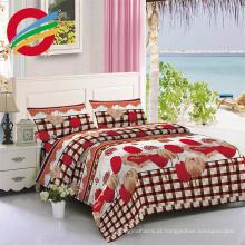100% microfibra de poliéster para lençol de cama conjunto de têxteis lar escovado tecido