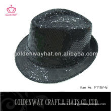 Black Sequin funny party hat