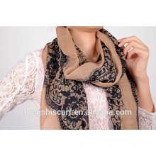 polyester triangle lace scarf HD266 123-2 70X180_1414 (2)