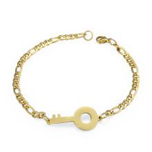 Amistad de joyería de color dorado linda amante llave de pulsera