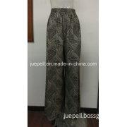 Ladies Knit Rayon Wide Leg Long Pants