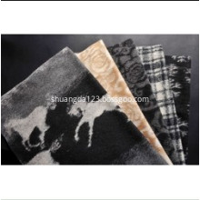 Fashion Jacquard Knitted Woolen Fabric