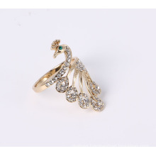 Peacock Fashion Jewelry Ring with Rhinestones