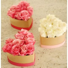 Customized heart shaped flower paper box