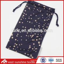 Pequeños bolsos de cordón de microfibra para gafas de sol y productos de regalo