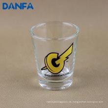2 Unzen. Schnapsglas mit Bildschirm gedruckt Logo (Bleifrei)