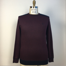 Men's Round Neck Dark Red Sweater