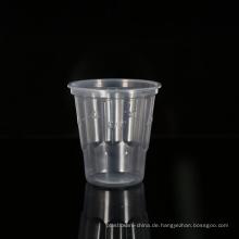 Fabrikpreis Lebensmittelqualität klarer Kunststoff rund 8oz / 240ml Einweg Milchshake Cups