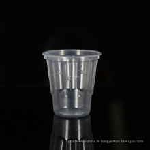 Tasses jetables rondes de milkshake en plastique clair de catégorie comestible des prix usine 8oz / 240ml