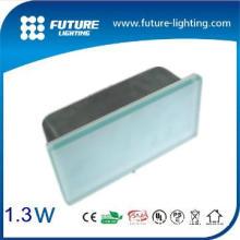 200x100mm 18leds IP67  Toughened glass led tile light for stair