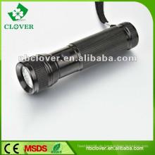 Professionelle 12000-15000MCD 12 führte Mini-Aluminium LED-Taschenlampe Fackel