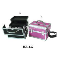 nouvelle arrivée aluminium professionnel maquillage vanity case avec plateaux à l'intérieur du fabricant