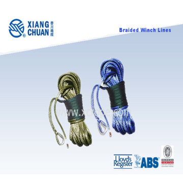 Braided UHMWPE Winch Lines with Thimble