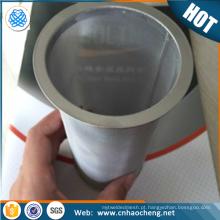A malha de aço inoxidável de 100 engranzamentos carbonizou o filtro do fabricante de café / o tubo frio do filtro de café da fermentação