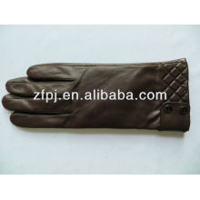 Damen-Mode Braun Schaffell Leder Handschuhe