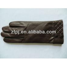 Ladies Fashion Brown Sheepskin Leather Gloves