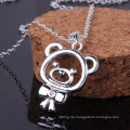 Art- und Weiseentwurfs-Silber-kleine Bären-Form-hängende Halsketten-Zircon-Sterlingsilber-Schmucksachen