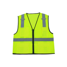 Hi-Viz Mesh Reflective Safety Vest with Zipper