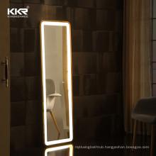 Frameless Led Full Length Backlit Mirror Rectangle Floor Mirror With Led Lights
