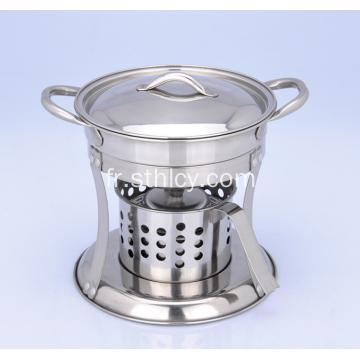 Ensemble de hot pot en acier inoxydable