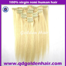 Golen Hair 2014 Top Quality Factory Price Cheap White Clip in Hair Extension
