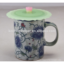 Hot Selling FDA Approved Food Grade Cute Anti-dust Coffee Mug Silicone Cup Lid