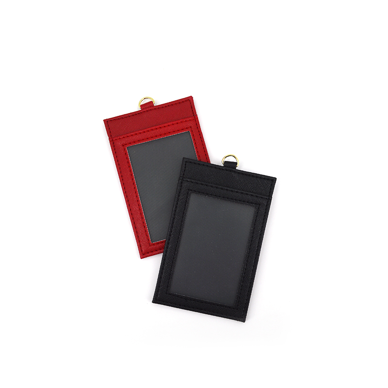 Popular professional Leather Name Badge ID Card Holder