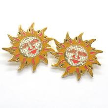 Классический стиль изготовленный на заказ металл металл подсолнечника pin отворотом