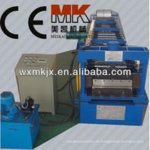 Rollo de plataforma de piso galvanizado automático que forma la máquina, máquina de decking del piso, cubierta de piso que forma la máquina