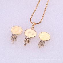 61841 Xuping Fashion China Wholesale 18K Charming Gold plated pendant beautiful diamond Jewelry Set