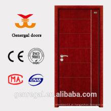 Porta de madeira pintada lisa lisa à prova de som interna