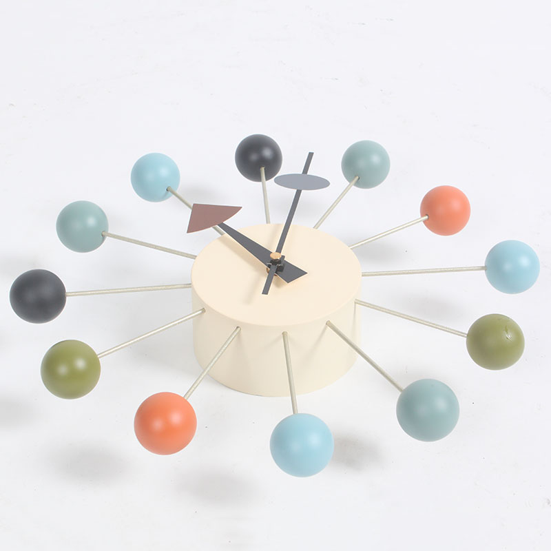 ball clock in orange