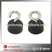 Rubber Coated POT Magnet with M5 Hook