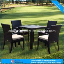 Garden patio table set wicker lounger dining chair set