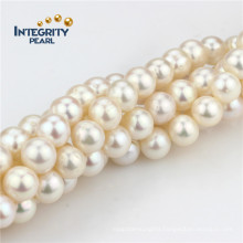Freshwater Pearl Strand a 10mm Full Round Natural Pearl Strand