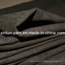 Tissu 100% de veste de daim de polyester avec de haute qualité