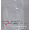 Customizable wedding gift bags with handles die cut plastic party gift bags, Clear Plastic Carrier Bags Party gift bags/gift bag
