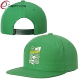 Green Vitor Sports Adjustable Snapback Hat with Heat-Sealed Graphics