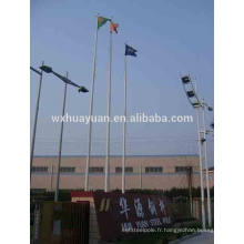 Poteau de drapeau en acier inoxydable
