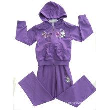 Девушки мода Спортивная одежда в французский Терри толстовки дети Детская одежда (РГС-114)